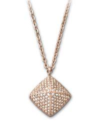 Swarovski   Metallic Tactic Crystal Pendant Necklace   Lyst