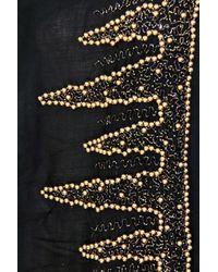 Saachi | Black Beaded Border Wrap | Lyst
