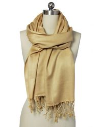 Saachi - Natural Sand Luxurious Cashmere Blend Wrap - Lyst