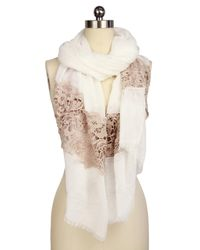 Saachi | Natural Floral Lace Scarf | Lyst