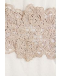Saachi - Natural Floral Lace Scarf - Lyst