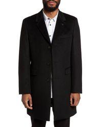 Ted Baker - Black Endurance Wool & Cashmere Overcoat for Men - Lyst