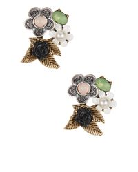 Betsey Johnson - Multicolor Flower Cluster Stud Earrings - Lyst