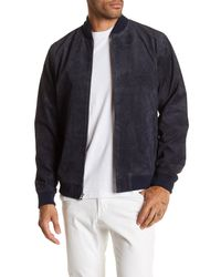 Obey | Blue Clifton Genuine Suede Jacket for Men | Lyst
