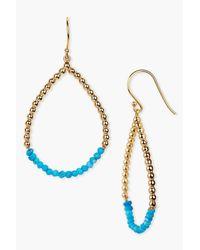 Argento Vivo - Metallic 18k Gold Plated Sterling Silver Turquoise Open Teardrop Earrings - Lyst