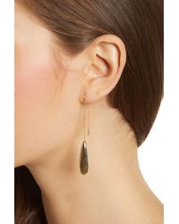 Argento Vivo - Metallic 18k Gold Plated Sterling Silver Labradorite Teardrop Threader - Lyst