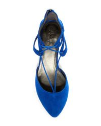 Kenneth Cole Reaction - Blue Why Not Wedge Suede Flat - Lyst