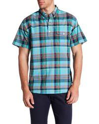 Bonobos | Blue Madeira Short Sleeve Print Slim Fit Shirt for Men | Lyst