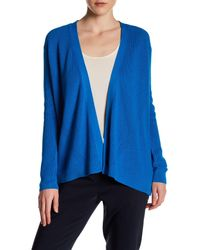 Chaus | Blue Long Sleeve Ribbed Cardigan | Lyst
