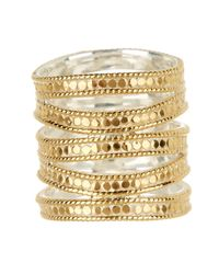 Anna Beck - Metallic 18k Gold Plated Sterling Silver Gili Multiband Ring - Lyst