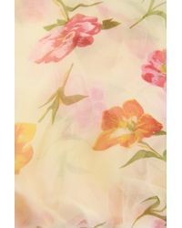 Saachi | Multicolor Cream Floral Dream Lettuce Hem Silk Scarf | Lyst