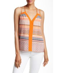 Ramy Brook - Orange Ivy Silk Tank - Lyst