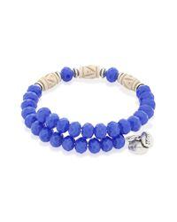 ALEX AND ANI | Blue 'deep Sea' Wrap Bracelet | Lyst