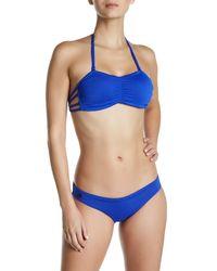 Maaji | Blue Sapphire Ferries Bandeau Soft Cup Reversible Bikini Top | Lyst