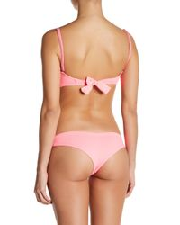 Maaji   Pink Flamingo Shortcut Signature Cut Reversible Bikini Bottom   Lyst