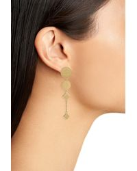 Rebecca Minkoff - Metallic Etched Coin Drop Earrings - Lyst
