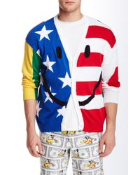 Moschino - Multicolor Stars And Stripe Patchwork Cardigan for Men - Lyst