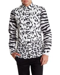 Moschino | White Long Contrast Sleeve Pattern Shirt for Men | Lyst