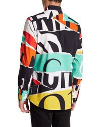 Moschino - Multicolor Long Sleeve Pattern Shirt for Men - Lyst