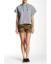 Alternative Apparel - Green French Terry Rolled Short - Lyst