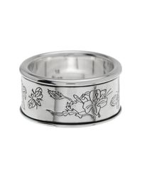 Gucci - Metallic Sterling Silver Flora Ring - Size 8.25 - Lyst