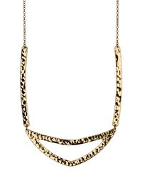 Gorjana - Metallic 18k Gold Plated Amanda Cut-out Necklace - Lyst