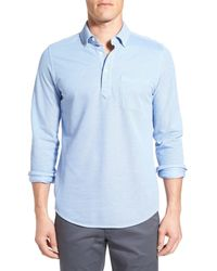 Bonobos | Blue Slim Fit Long Sleeve Pique Polo for Men | Lyst