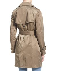 Ellen Tracy - Natural Techno Double Breasted Trench Coat - Lyst
