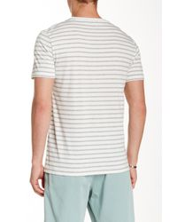Slate & Stone - Gray Striped Crew Neck Tee for Men - Lyst