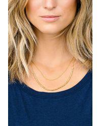 Gorjana - Metallic Tavia Layered Bead Frontal Chain Necklace - Lyst