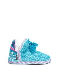 Muk Luks | Blue Amira Faux Fur Lined Slipper | Lyst