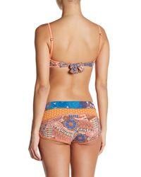 Maaji | Blue Border To Border Bandeau Reversible Bikini Top | Lyst