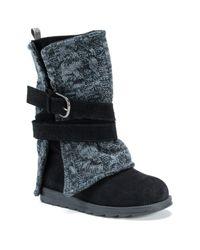 Muk Luks   Black Nevia Convertible Sweater Boot   Lyst