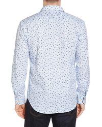 Bugatchi - Blue Woven Sport Shirt for Men - Lyst