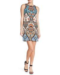 Maggy London - Blue Paisley Sleeveless Shift Dress - Lyst