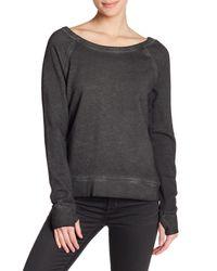 Pam & Gela - Black Lace-up Back Sweatshirt - Lyst