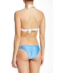 ViX - Blue Macrame Braided Strap Brazilian Bottom - Lyst