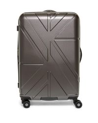 """Ben Sherman - Gray Oxford 24"""" Upright Suitcase for Men - Lyst"""