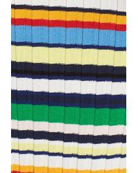 MILLY | Multicolor Stripe Rib Knit Tank | Lyst