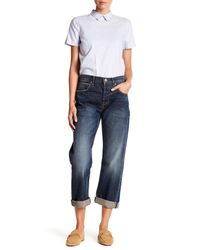 Current/Elliott - Blue Wide Leg Boyfriend Jeans - Lyst