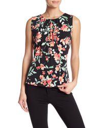 CALVIN KLEIN 205W39NYC - Black Floral Pleat Neck Cami - Lyst