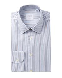 Smyth & Gibson - Blue Twill Stripe Tailored Fit Dress Shirt for Men - Lyst