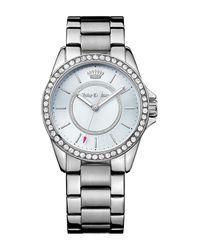 Juicy Couture - Metallic Women's Laguna Crystal Bracelet Watch - Lyst