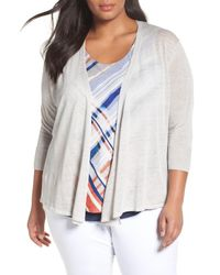 NIC+ZOE - Multicolor Four-way Convertible Cardigan - Lyst