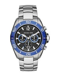 MICHAEL Michael Kors - Metallic Men's Black Dial Stainless Steel Watch for Men - Lyst