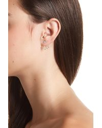 Meira T - Metallic 14k Gold & Diamond Pave Ear Jacket Earrings - 0.27ctw - Lyst