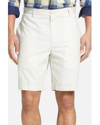 Vineyard Vines - Natural 'summer' Flat Front Twill Shorts for Men - Lyst