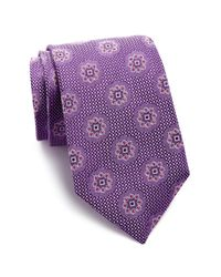 John W. Nordstrom | Purple Portale Medallion Silk Tie for Men | Lyst