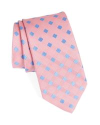 John W. Nordstrom - Pink Grid Silk Tie for Men - Lyst