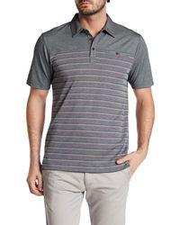 Travis Mathew - Gray Cutback Striped Polo Shirt for Men - Lyst